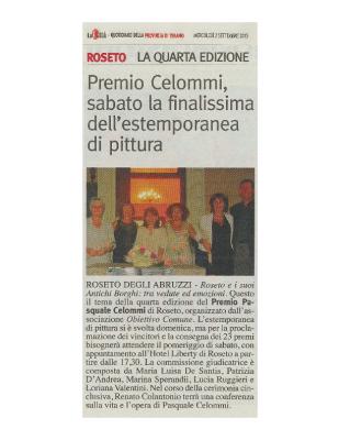 2015 – La Città, Premio Celommi